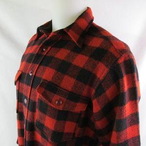 Woolrich 100% Wool Red & Black Plaid L/S Shirt